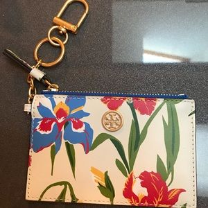 Authentic tory burch key card case